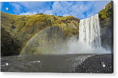 Acrylic Print featuring the photograph Skogafoss Rainbow by James Billings