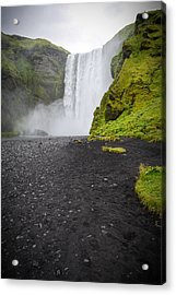 Skogafoss The Entrance To Fimmvorduhals Acrylic Print