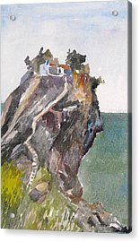 Skopelos Church On The Rock Acrylic Print