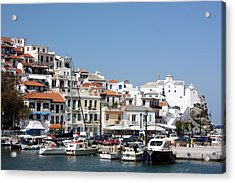 Skopelos Harbour Greece Acrylic Print