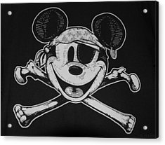 Skull And Bones Mickey  Acrylic Print by Rob Hans