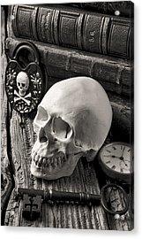Skull And Skeleton Key Acrylic Print by Garry Gay