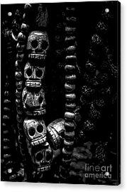 Skull Beads Acrylic Print