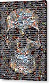 Skull Acrylic Print by Boy Sees Hearts