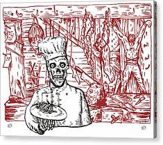 Skull Cook Acrylic Print by Aloysius Patrimonio