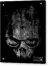 Skull Graphic Acrylic Print by Edward Fielding
