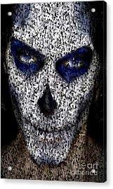 Skull In Black And White Digital Art By Rafael Salazar