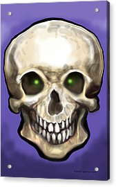 Acrylic Print featuring the painting Skull by Kevin Middleton
