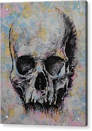 Medieval Skull Acrylic Print by Michael Creese