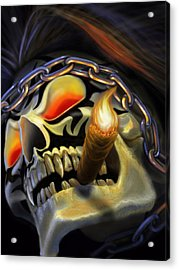 Skull Project Acrylic Print by Pat Lewis