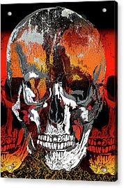 Skull Times Three Acrylic Print