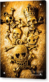 Skulls And Crossbones Acrylic Print