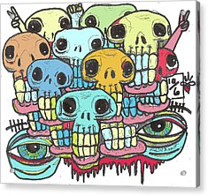 Skullz Acrylic Print by Robert Wolverton Jr