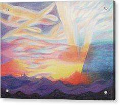 Sky Ablaze Acrylic Print by Suzanne  Marie Leclair