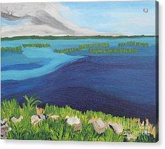 Serene Blue Lake Acrylic Print