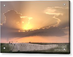 Sky And Water Acrylic Print by Art Whitton