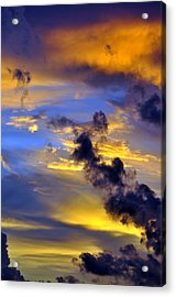 Sky At Sunset Acrylic Print by Rose  Hill