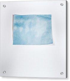 Sky Blue On White Acrylic Print by Scott Norris