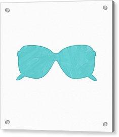 Sky Blue Sunglasses- Art By Linda Woods Acrylic Print by Linda Woods