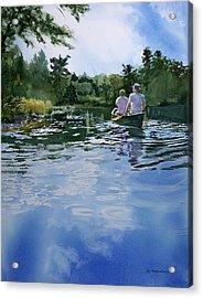 Sky Blue Waters Acrylic Print