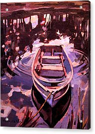 Acrylic Print featuring the painting Sky Boat by Tim  Heimdal