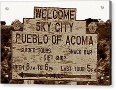 Sky City Sign Acrylic Print by David Lee Thompson