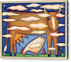 Sky Cow Acrylic Print by Mary Anne Nagy