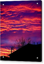 Acrylic Print featuring the photograph Sky Drama by Valentino Visentini