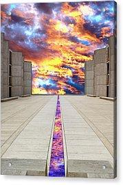 Sky Flow La Jolla Acrylic Print by William Dey