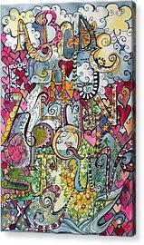 Sky Garden Acrylic Print by Claudia Cole Meek