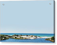 Sky Gulf Dunes Lake Acrylic Print