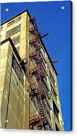 Acrylic Print featuring the photograph Sky High Warehouse by T Brian Jones