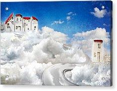 Sky Houses Acrylic Print