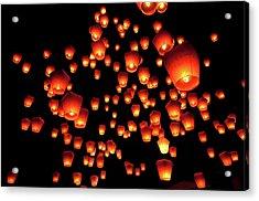 Sky Lanterns In Pinghsi Acrylic Print