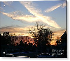 Acrylic Print featuring the photograph Sky Message by Desline Vitto