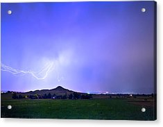 Acrylic Print featuring the photograph Sky Monster Above Haystack Mountain by James BO Insogna