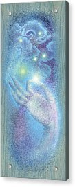 Acrylic Print featuring the painting Sky Mudra by Ragen Mendenhall