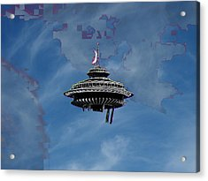 Sky Needle Acrylic Print by Tim Allen