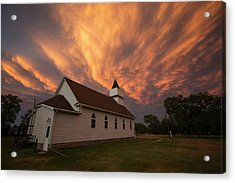 Acrylic Print featuring the photograph Sky Of Fire by Aaron J Groen