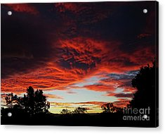 Acrylic Print featuring the photograph Sky On Fire by Angela DeFrias