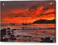 Sky On Fire Acrylic Print by Jim Walls PhotoArtist