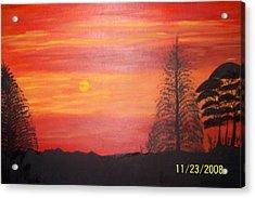 Sky On Fire Acrylic Print by Paula Ferguson