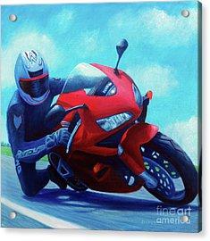 Sky Pilot - Honda Cbr600 Acrylic Print by Brian  Commerford