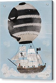 Acrylic Print featuring the painting Sky Pirates by Bri B