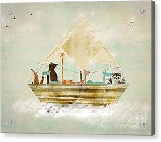 Sky Sailers Acrylic Print by Bri B