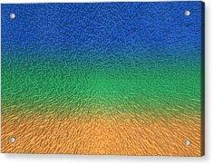 Sky Sea Sand 3d Blocks Acrylic Print by Betsy Knapp