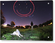 Sky Smile Acrylic Print by Andrew Nourse