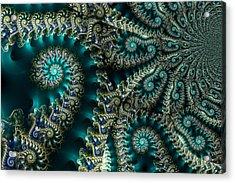 Sky Spirals Acrylic Print by Digital Art Cafe