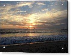 Acrylic Print featuring the photograph Sky Swirls Over Toes Beach by Lorraine Devon Wilke