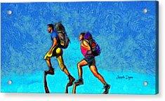 Sky Walkers - Da Acrylic Print by Leonardo Digenio